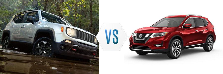2020 Jeep Renegade vs Nissan Rogue
