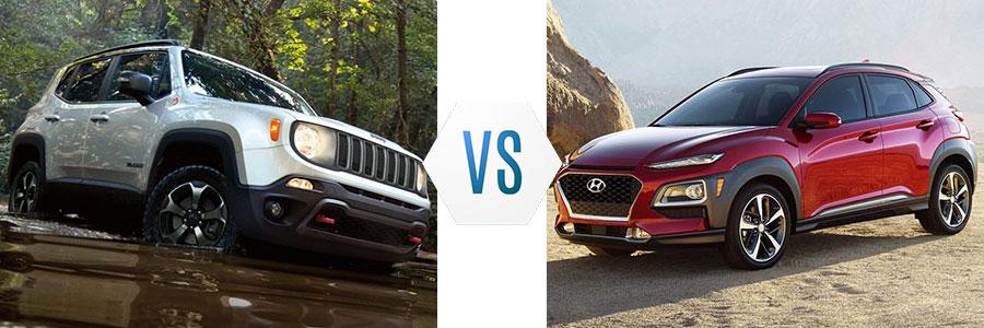 2020 Jeep Renegade vs Hyundai Kona