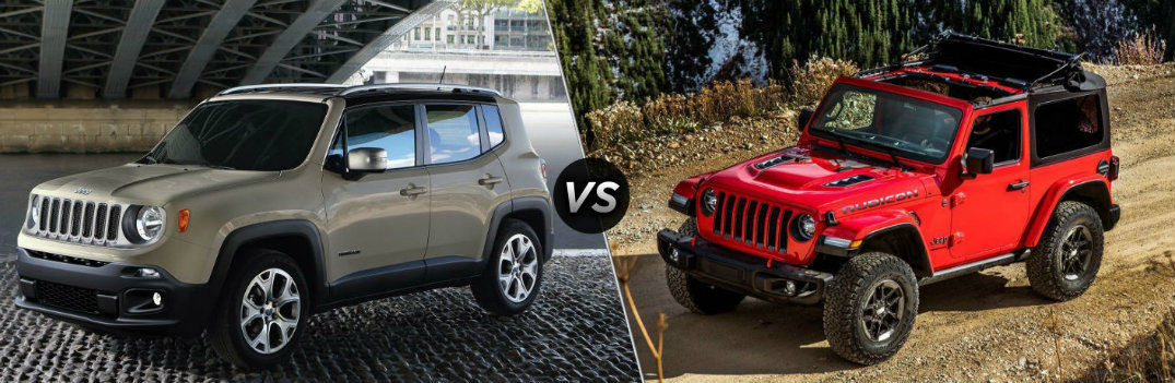 Jeep Wrangler Renegade >> 2018 Jeep Renegade Vs 2018 Jeep Wrangler