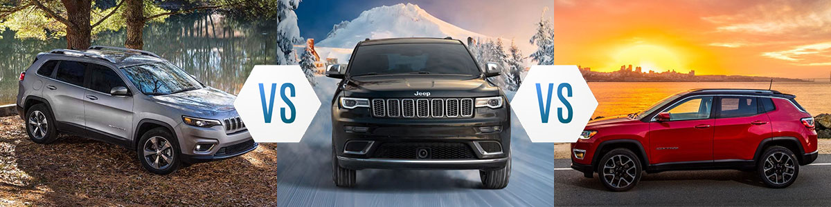 Jeep Cherokee Vs Grand Cherokee >> Jeep Cherokee Vs Jeep Grand Cherokee Vs Jeep Compass
