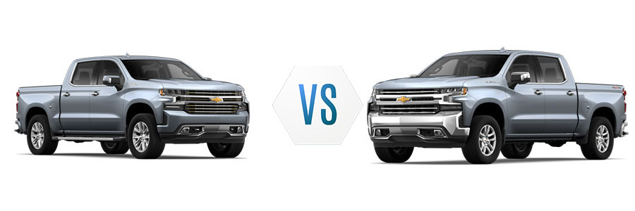 2019 Chevrolet Silverado 1500 High Country vs LTZ