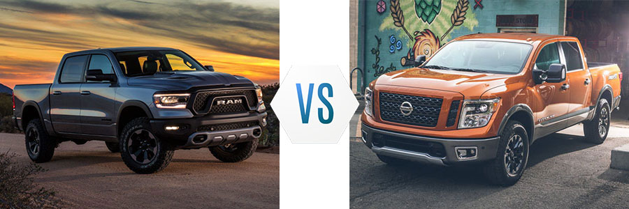 2019 Ram 1500 vs Nissan Titan